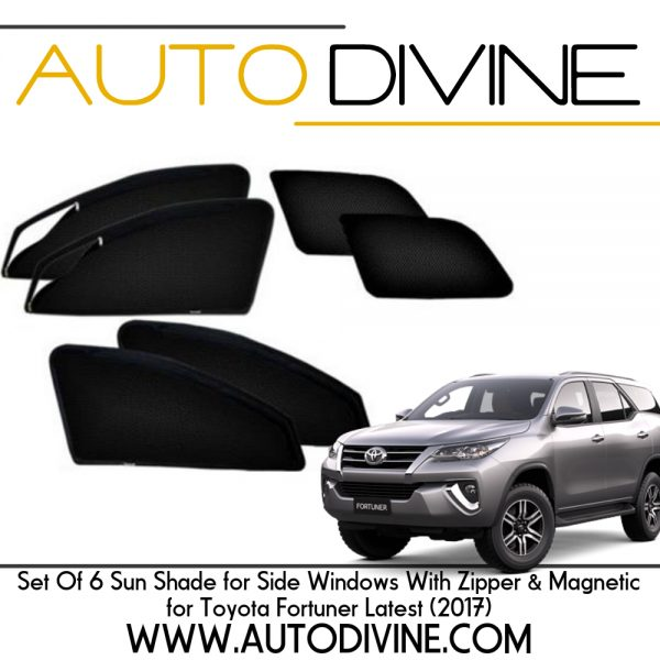 Toyota Fortuner New Car Accessories Side Window Zipper Magnetic Sun