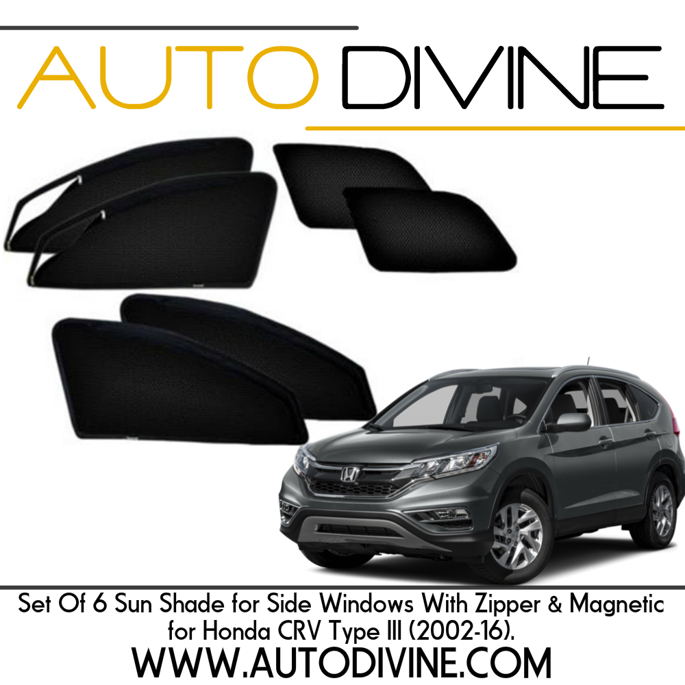 """Category : Car Accessories Premium Quality Zipper Magnetic Sun Shades Car Curtain About Product - Zipper magnetic sunshades for driver and co-driver to increase ease of use. They are made from high quality Materials which protects your car from high degree direct sun rays, They Covers windows Edge to Edge and stick with the frame using magnets. No tool is required for installation , no need to drill or damaging body, Installation will not interfere with windows operation. They Provide safe visibility while driving. Custom Design, Steel Material, Imported Zipper with 3 months warranty. Product Description - 100% fit to size Brand """"Auto Divine"""" Car Zipper Magnetic Sun Shades Made Specifically Though Premium Quality Mesh Cloth With Perfect Fitting Material Used is Imported High Quality Net Mesh Cloth Black Color Magnetic Curtains With Magnets Which Will Snap On The Window Frame Zips Are Provided On Driver + Co Driver Seats To Increase The Ease Of Use How to Install: Open The Doors. Place the magnetic curtain on the window frame and the magnets will snap on the frame. Magnetic curtains can be attached only after the doors are opened not otherwise. In the box 1 Big Zipper Bag 2 Front zipper magnetic sun shade 2 Rear Magnetic Sun Shades Note: **The Real Product Can vary from the Images shown Very Important*** Please Check your mobile number and address information is updated and compete Dispatch Time: We usually Dispatch the item Next Day Maximum Dispatch Time 3 Days Payment Very Simple Payment Procedure You Can Pay Through Debit/ Credit Card or Internet Banking & Various Digital Wallets. After Placing an Order You Will Receive Confirmation Email & Sms. You Need To Confirm The Receipt of The Item When You Receive The Item. Contact US You can feel Free to mail us on : support@autodivine.com Feedback Your FEEDBACK is very valuable So please give a 100% Positive Feedback and We Will Give Our Best :) Happy to serve Do leave a feedback on purchase : Learn about your trading pa"""