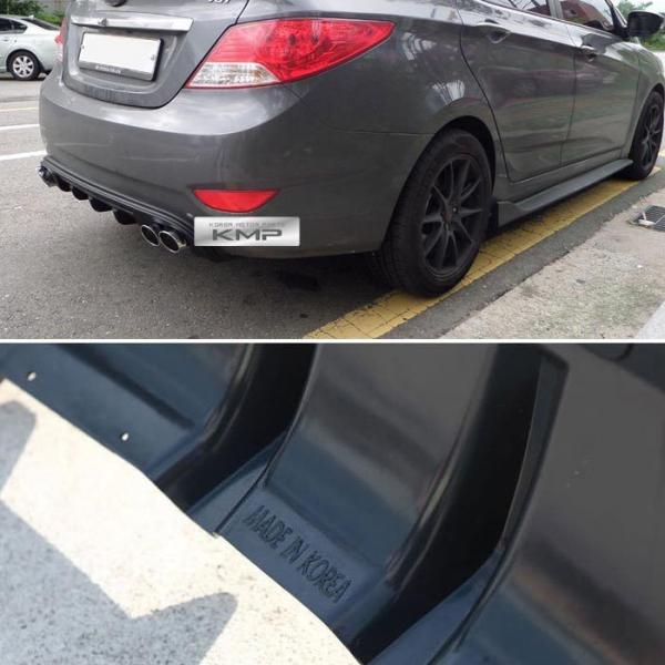 Sell Now Details About Rear Bumper Dual Muffler Diffuser Matt Black For HYUNDAI 2011 2017 Verna